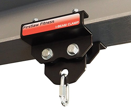 """Firstlaw Fitness 1000 LBS I-Beam Clamp - (Set at 4.0"""" Wide) - for Gymnastic Rings - Climbing Ropes - Heavy Bags - Made in The USA"""