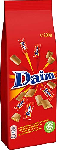 Daim Minis, Butter-Mandel-Karamell in Milchschokolade - 200g - 4x