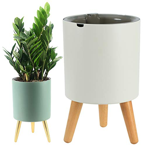 2 Packs Large Self Watering Planters with Stand for Indoor