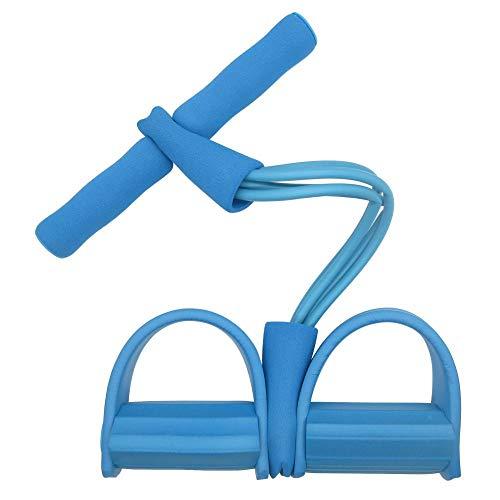 Anwasd7 Multifunctioneel trainingsapparaat-pedaaltrektouw multifunctioneel 4-buis-trekker Sit-Ups sleutelhanger buik elastisch touw