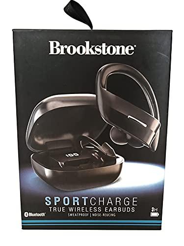 Brookstone SportCharge True Wireless Bluetooth Earbuds - Black