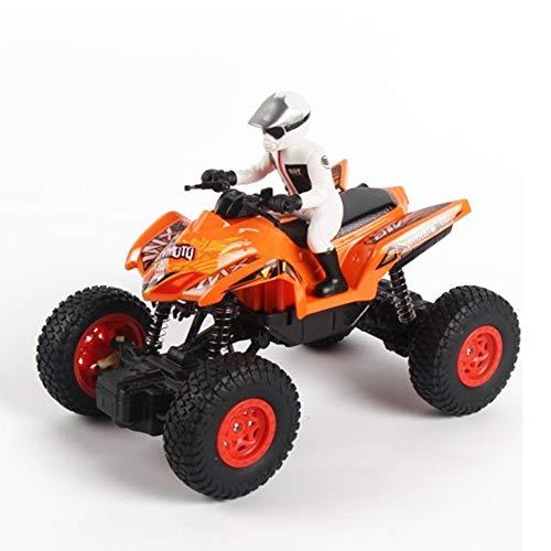 WXIAORONG RC Motorrad, Remote Control Beach Quad Bike – Offroad Climbing Car Super Fun Speed Master Remote Control Toy für Kinder Erwachsene,Orange