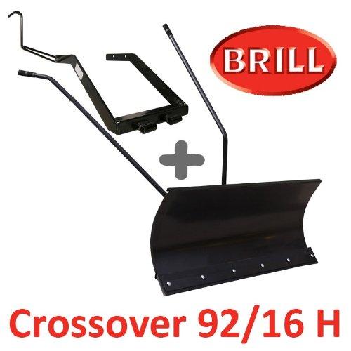 Lame à Neige 118 cm Noire + adaptateur pour BRILL Crossover 92/16 H
