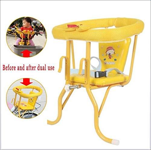 JIASHANGWU Fahrrad-Kindersitz Verdickung Baby vorne hängende Heck-Dual-Use-Quick-Release-Sitze mit Sicherheitsgurt
