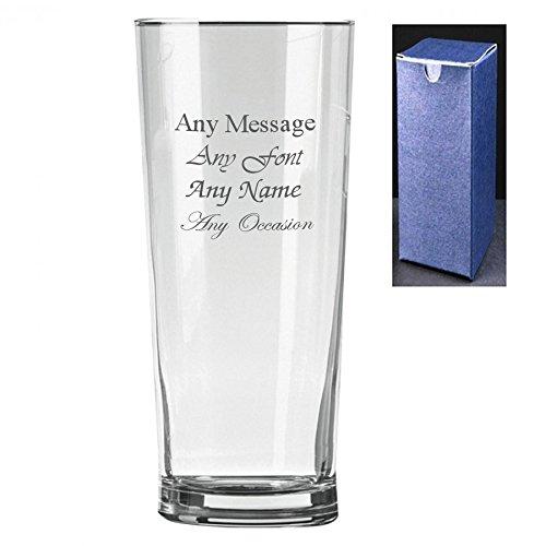 Personalizado grabado Senador pinta sidra cerveza cristal–regalo perfecto Present