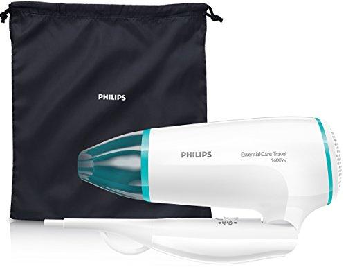Philips Thermoprotect BHD006 - Secador de Pelo de Viaje, Doble Voltaje, DifUsor, 2 Velocidades, 2 Temperaturas, 1600 W, Blanco