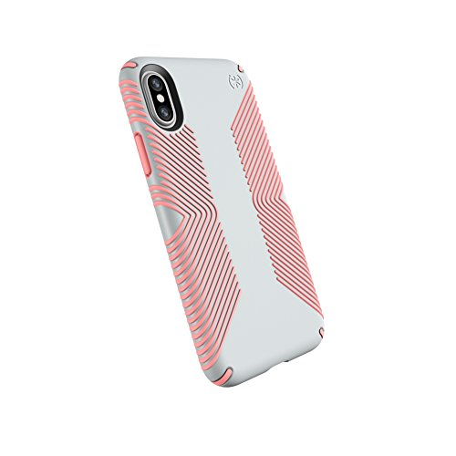 Speck Products Presidio Grip Case for iPhone XS/iPhone X, Dove Grey/Tart Pink (103131-6584)