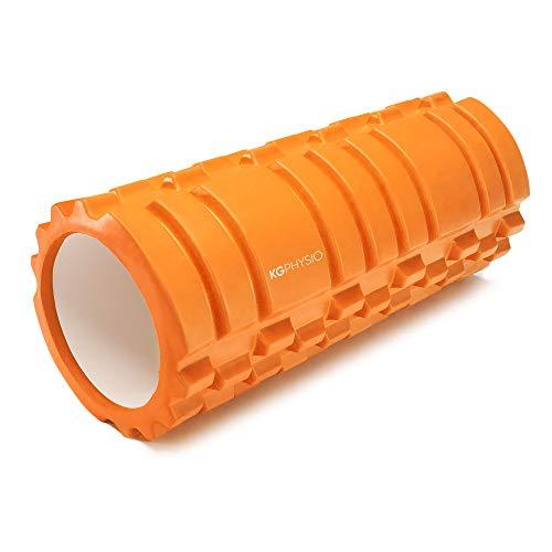 KG Physio Foam Roller - Rodillo Masaje Muscular para Piernas, Espalda y Brazos - Rulo Masaje Muscular Ultraligero Esencial para Liberar Tensiones Musculares - 33x12cm Rodillo Pilates