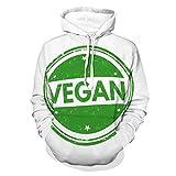 Sudadera unisex vegana con capucha y estilo casual
