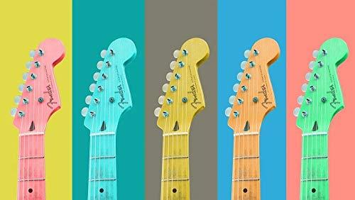YHHAW Patrón de Guitarra Colorida Puzzle,Puzzles para Adultos,Rompecabezas,Puzzle 500 Piezas