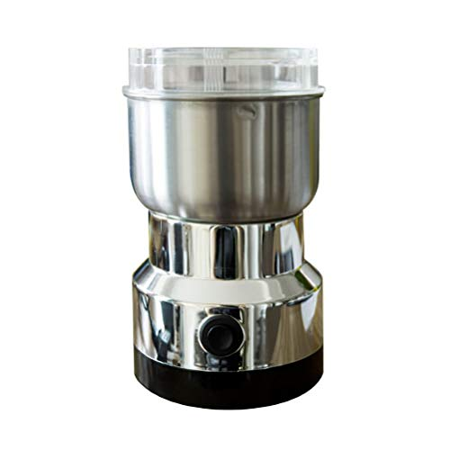 Electric Coffee Grinder Blender, with 4-leaf Stainless Stee,l Blade for Grinding Grain Spice Nut,Silver, US Plug