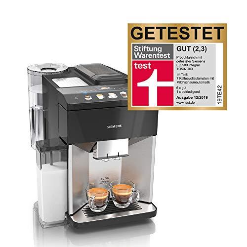 Siemens EQ.500 Koffiezetapparaat, geïntegreerde koffiezetapparaat Roestvrij staal/pianolak zwart