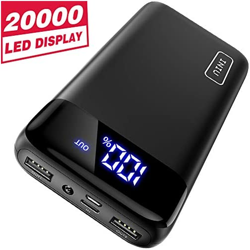 INIU Portable Charger, 18W PD3.0 QC4.0 Fast Charging LED Display 20000mAh Power Bank, Tri-Outputs Battery Pack… 3