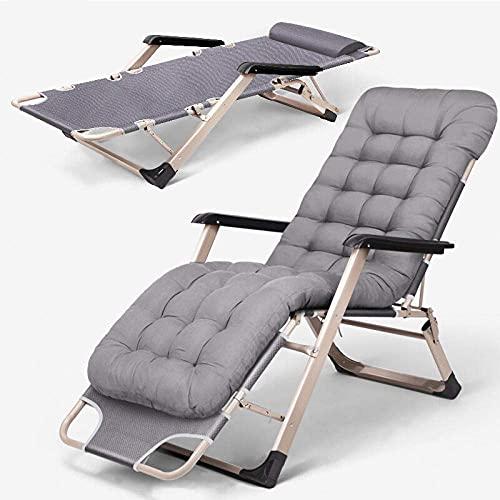 DERUKK-TY Tumbona plegable de jardín, sillas de jardín, sillas de patio, sillas de jardín plegables, tumbonas portátiles, sillas de gravedad cero, soporte de 200 kg, color verde transpirable