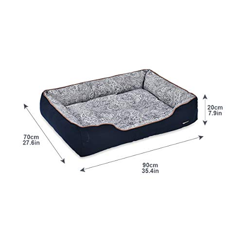 AmazonBasics Cuddler Pet Bed For Cats or Dogs - Soft and Comforting - X-Large, Floral Print