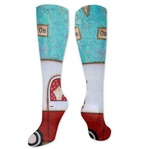 NiWCGP Weinlese-Wohnmobil Unisex Socken Knöchel Laufen Sport Athletic Socken Crew Socken 50 cm