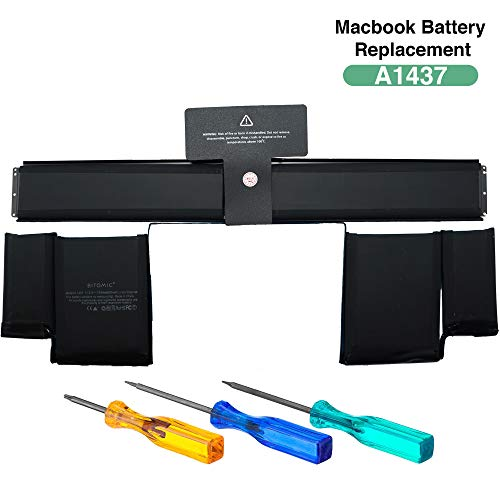 Bitomic A1437 Battery for MacBook Pro 13 Inch Retina - 6600mAh | Compatible with MacBook Retina A1437 (2012 Version), A1425 (Late 2012 Early 2013) Li-Polymer | 11.42V