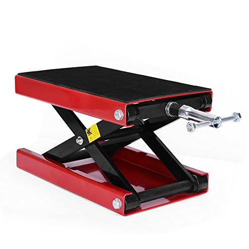 YITAMOTOR Motorcycle Wide Deck Scissor Lift Jack Dilated Center Hoist Stand-1100 LB Capacity