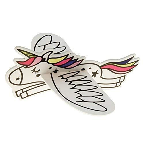 JT Flying Unicorns Gleitflugzeuge Set - Neuheit für den Kindergeburtstag - Fliegendes Einhorn -...