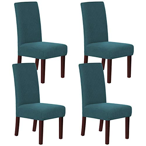 H.VERSAILTEX Chair Covers for Dining Room Parsons Chair Slipcover Stretch Chair Covers Chair Protectors Covers Dining Chair Covers Set of 4, Deep Teal