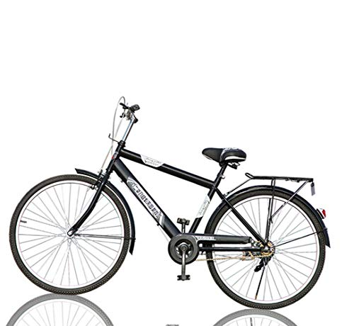 MTB Bike Outdoor Mountain Bicycle Adults Bicycle 26 Inch Urban Commuter Retro Classic Hybrid Bike with Back Seat,Black