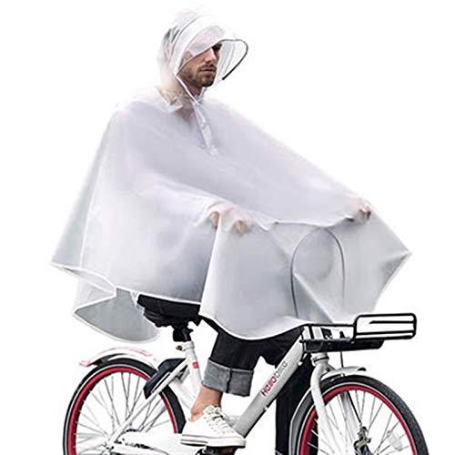 Abrigo Impermeable Al Aire Libre Impermeable Impermeable Impermeable Impermeable Poncho Fashion Fashion Bicycle Abrigos De Lluvia con Bolso Outdoors (Color : White, Size : One Size)