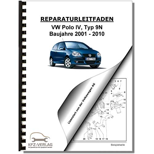 VW Polo 4, Typ 9N (01-10) 4-Zyl. 1,4l Benzinmotor 75-100 PS Reparaturanleitung