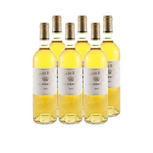 Château Rieussec Les carmes de Rieussec Weißwein 2011 - g.U. Sauternes süßer - Bordeaux Frankreich - Rebsorte Sauvignon Blanc, Sémillon, Muscadelle - 6x75cl