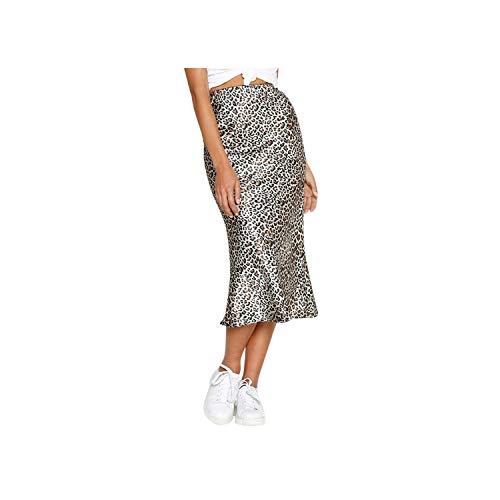 Vrouwen Casual Retro Hoge Taille Luipaard afdrukken Elegante Avond Party Lange Rok
