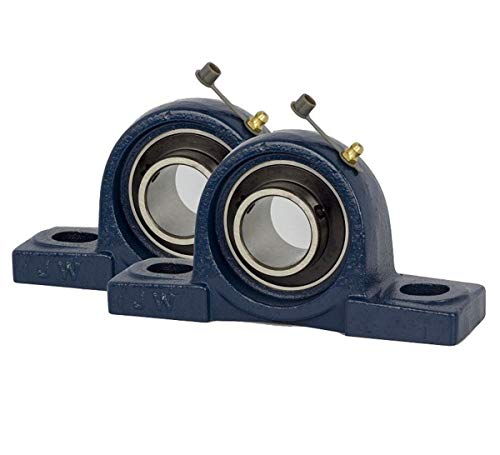 Jeremywell 2 Piece- UCP207-20 Pillow Block Bearing 1-1/4 inch Size Bore, Solid Base, Self-Alignment by Jeremywell