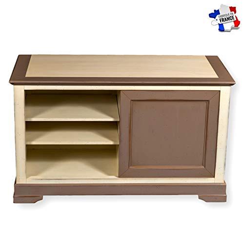 GONTIER TV-Möbel, 1 Tür, Massivholz, 100 % in Frankreich hergestellt