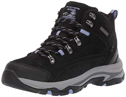 Skechers womens Hiker Hiking Boot, Black/Charcoal, 8 US