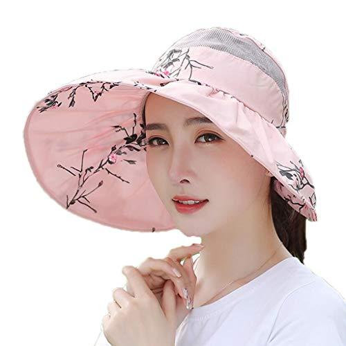 YULAN bloem afbeelding vizier hoed grote zonnecrème ademend zomer wilde mode casual outdoor fietsen reizen vissen strand kuste dames multicolor