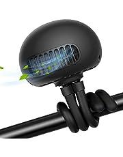 TAECCL Stroller Fan Portable Bladeless Fan Mini Handheld Fan with Flexible Tripod Clip on Stroller Fan 3 Speeds Rechargeable Battery Operated Fan for Stroller ,Car Seat,Crib,Bike and Desktop