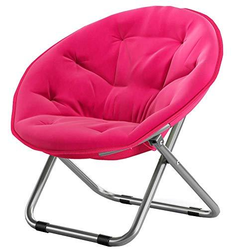 JIEER-C kamer-klapstoel, gevoerd, in de bodem, inklapbaar, voor zwangere vrouwen, fauteuils, kantelbaar, met rugleuning, voor strand, kantoor, vrije tijd, balkon, ligstoel, buiten (kleur: rood) Roos Rood