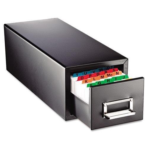 SteelMaster. Drawer Card Cabinet Holds 1,500 3 x 5 cards, 7 3/4 x 18 1/8 x 7 (263F3516SBLA)