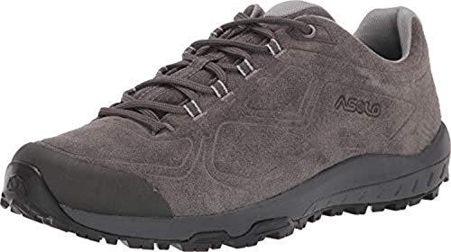Asolo Women's Flyer Leather Hiking Shoe Beluga 8 & Knit Cap Bundle