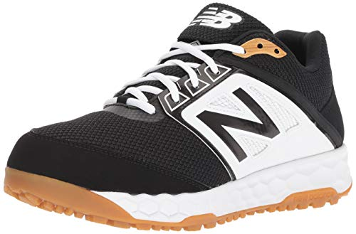 New Balance Men's 3000 V4 Turf Baseball Shoe, Black/White, 11 M US