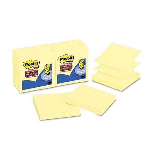 Post-it de Super Sticky Pop-Up Recambio, 3x 3, Amarillo Canario, 1290-sheet almohadillas por paquete–:–Vendido como 2Packs de–12–/–Total de 24cada