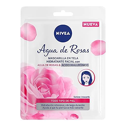 Nivea Agua de Rosas Mascarilla en Tela con Ácido Hialurónico