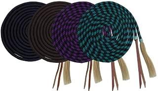 Showman 23' Nylon Braided Mecate Reins w/Horse Hair Tassel! New Horse TACK!