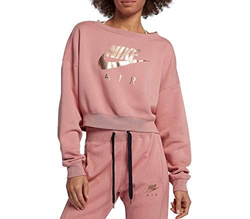 Nike Sportswear - Rally Crew Air de manga larga para mujer (rosa/gris) - L