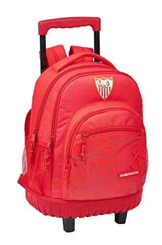 Sevilla FC Mochila Trolley 45cm Compact con Ruedas Corporativa Tiempo Libre y Sportwear, Adultos Unisex, Multicolor (Multicolor), 45 cm