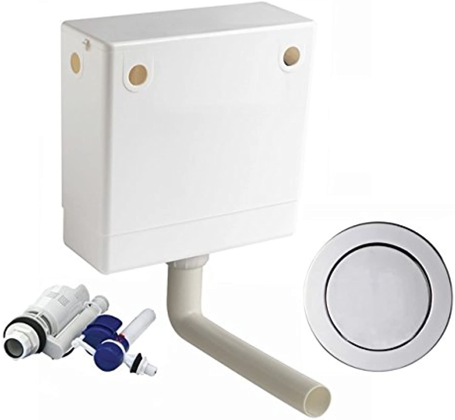 Macdee Pneu Compact Pneumatic Concealed WC Toilet Cistern Single Flush CPL41CP