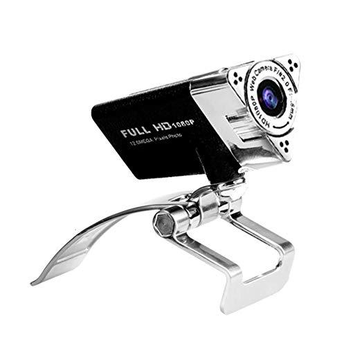 1 cámara web 1080P USB con micrófono para ordenador de sobremesa o portátil de PC