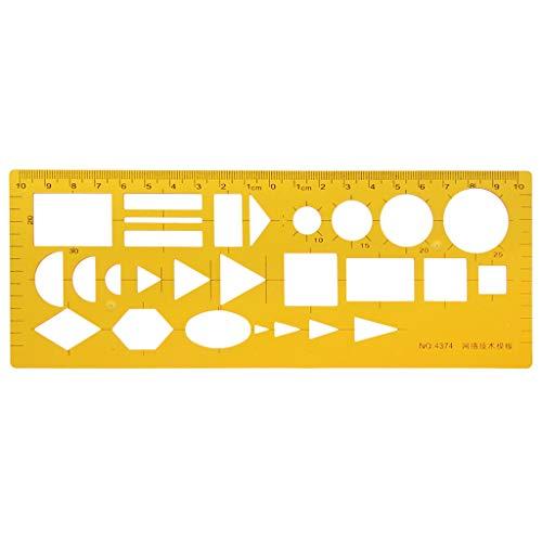 Wanfor Network Technique Technische Zeichnungsvorlage Lineal Drafting Messwerkzeug Neu, Schulprodukt Tool