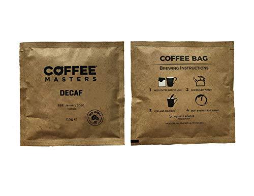 Coffee Masters Decaf Kaffeebeutel (wie Teebeutel) x 100