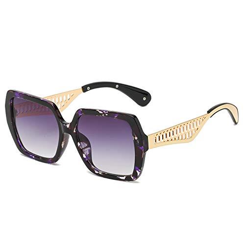Gafas de Sol Sunglasses Gafas De Sol para Mujer Gafas De Sol Cuadradas De Moda para Fiestas Diseño De Lujo Gafas para Mujer Gafas Graduadas De Gran Tamaño Uv400 C7Purplef