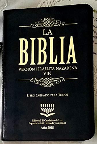 La Biblia Versión Israelita Nazarena Nueva Edición 2018 Español (color negro)