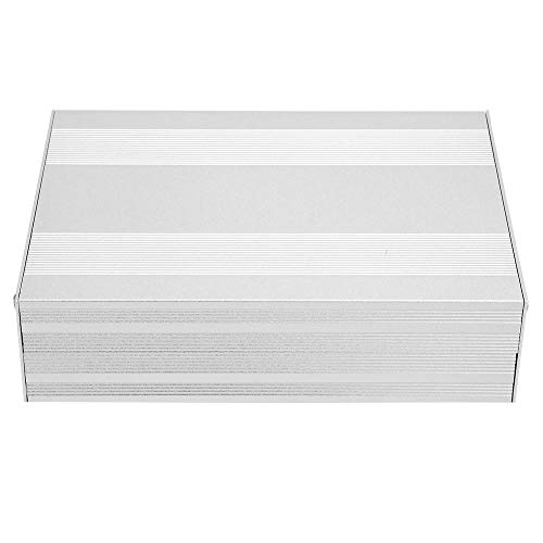 Aluminiumprojekt, PCB-kortinstrument kyllåda, elektroniskt projektfodral, 2,1 x 5,7 x 7,9 tum, silver